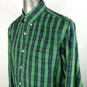 J. Crew Shirtings Washed Tartan Tailored Fit Shirt